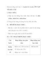 Giáo án tiếng việt lớp 5 - Luyện từ và câu: ÔN TẬP VỀ DẤU CÂU pdf