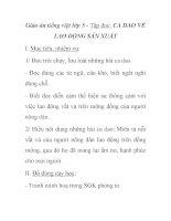 Giáo án tiếng việt lớp 5 - Tập đọc: CA DAO VỀ LAO ĐỘNG SẢN XUẤT ppt
