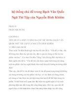 hệ thống chủ đề trong Bạch Vân Quốc Ngữ Thi Tập của Nguyễn Bỉnh Khiêm_2 pdf