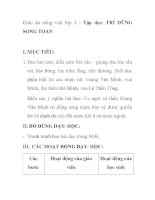 Giáo án tiếng việt lớp 5 - Tập đọc: TRÍ DŨNG SONG TOÀN ppsx