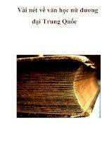 Vài nét về văn học nữ đương đại Trung Quốc pdf