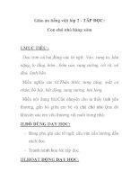 Giáo án tiếng việt lớp 2 - TÂP ĐỌC: Con chó nhà hàng xóm pptx