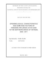 epidemiology of, and risk factors on pandemic influenza ah1n12009 in the northern area of vietnam, 2009 - 2011
