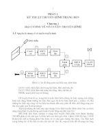 Giáo trình kỹ thuật truyền hình - Phần 1 Kỹ thuật truyền hình trắng đen - Chương 1 potx