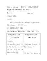 Giáo án toán lớp 5 - TIẾT 65 : CHIA MỘT SỐ THẬP PHÂN CHO 10, 100, 1000, … pptx