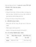 Giáo án tiếng việt lớp 5 - Luyện từ và câu: ÔN TẬP VỀ DẤU CÂU (Dấu hai chấm) ppt