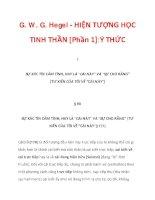 G. W. G. Hegel - HIỆN TƯỢNG HỌC TINH THẦN [Phần 1]:Ý THỨC_1 pptx