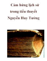 Cảm hứng lịch sử trong tiểu thuyết Nguyễn Huy Tưởng_2 potx