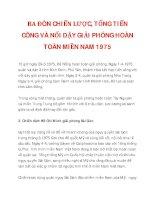 BA ĐÒN CHIẾN LƯỢC, TỔNG TIẾN CÔNG VÀ NỔI DẬY GIẢI PHÓNG HOÀN TOÀN MIỀN NAM 1975_2 ppsx