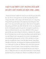 VIỆT NAM TRÊN CON ĐƯỜNG ĐỔI MỚI ĐI LÊN CHỦ NGHĨA XÃ HỘI (1986 - 2000)_4 docx
