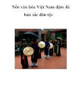 Nền văn hóa Việt Nam đậm đà bản sắc dân tộc . ppt