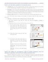 Giáo trình hướng dẫn cách sử dụng thủ thuật trong việc làm movie phần 5 pps