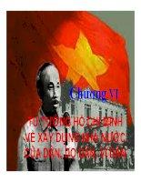 Bài giảng Tư tưởng Hồ Chí Minh: Chương 6 xây dựng nhà nước của dân, do dân, vì dân   Lý Ngọc Yến Nhi