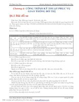 GIAO THÔNG ĐÔ THỊ VÀ CHUYÊN ĐỀ ĐƯỜNG - CHƯƠNG 6 ppt