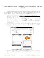Giáo trình hướng dẫn cách sử dụng thủ thuật trong việc làm movie phần 1 pdf