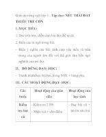 Giáo án tiếng việt lớp 5 - Tập đọc: NẾU TRÁI ĐẤT THIẾU TRẺ CON potx