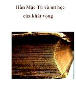 Hàn Mặc Tử và mĩ học của khát vọng _2 pdf