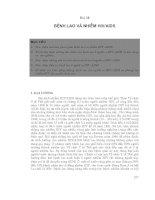 Bệnh học lao - Bài 10 Bệnh lao và nhiễm HIV/AIDS pps