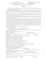 ĐỀ THI THỬ ĐH - CĐ ĐỢT 2 Môn: Tiếng Anh - Mã đề 542 pps