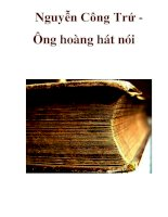 Nguyễn Công Trứ Ông hoàng hát nói _1 ppt