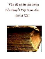 Vấn đề nhân vật trong tiểu thuyết Việt Nam đầu thế kỉ XXI_2 docx