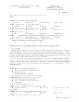 ĐỀ KIỂM TRA MÔN Tiếng Anh Lớp 12 - Mã đề 132 potx