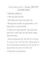 Giáo án tiếng việt lớp 5 - Tập đọc: THƯ GỬI CÁC HỌC SINH doc