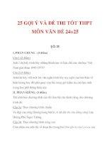 25 GỢI Ý VÀ ĐỀ THI TỐT THPT MÔN VĂN ĐỀ 24+25 potx
