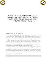 Giáo trình hướng dẫn cách truy cập vào các mảng đa chiều trên diện rộng có các kích thước khác nhau phần 1 pdf