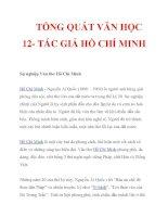 TỔNG QUÁT VĂN HỌC 12- TÁC GIẢ HỒ CHÍ MINH doc