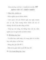 Giáo án tiếng việt lớp 5 - Luyện từ và câu: MỞ RỘNG VỐN TỪ: THIÊN NHIÊN pdf