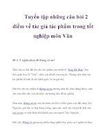 Tuyển tập những câu hỏi 2 điểm về tác giả tác phẩm trong tốt nghiệp môn Văn_5 pot