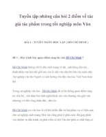 Tuyển tập những câu hỏi 2 điểm về tác giả tác phẩm trong tốt nghiệp môn Văn_1 pptx