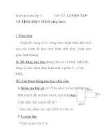 Giáo án toán lớp 5 - Tiết 102: LUYỆN TẬP VỀ TÍNH DIỆN TÍCH (tiếp theo) pps