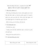 Giáo án tiếng việt lớp 5 - Luyện từ và câu: MỞ RỘNG VỐN TỪ: HỮU NGHỊ- HỢP TÁC pptx