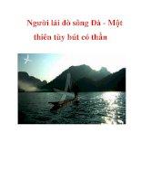 Người lái đò sông Đà - Một thiên tùy bút có thần docx