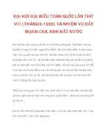ĐẠI HỘI ĐẠI BIỂU TOÀN QUỐC LẦN THỨ VIII (THÁNG 6-1996) VÀ NHIỆM VỤ ĐẨY MẠNH CNH, HĐH ĐẤT NƯỚC_3 potx