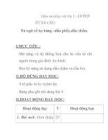Giáo án tiếng việt lớp 2 - LUYỆN TỪ VÀ CÂU: Từ ngữ về họ hàng –dấu phẩy,dấu chấm doc
