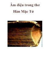 Âm điệu trong thơ Hàn Mặc Tử ppsx