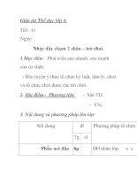 Giáo án Thể dục lớp 4 - Tiết 4 - Nhảy dây chụm 2 chân – trò chơii potx