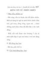 Giáo án tiếng việt lớp 5 - Luyện từ và câu: MỞ RỘNG VỐN TỪ: THIÊN NHIÊN ppt