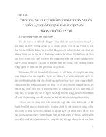 THỰC TRẠNG VÀ GIẢI PHÁP VỀ PHÁT TRIỂN NGUỒN NHÂN LỰC CHẤT LƯỢNG CAO Ở VIỆT NAM TRONG THỜI GIAN TỚI.