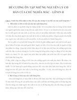 ĐỀ CƯƠNG ÔN TẬP NHỮNG NGUYÊN LÝ CƠ BẢN CỦA CHỦ NGHĨA MÁC – LÊNIN II pptx