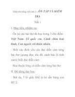 Giáo án tiếng việt lớp 5 - ÔN TẬP VÀ KIỂM TRA Tiết 1 doc