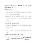 Giáo án tiếng việt lớp 5 - Ôn tập: ÔN TẬP GIỮA HỌC KÌ II (TIẾT 2) doc