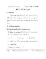 Giáo án toán lớp 5 - Tiết 141: ÔN TÂP VỀ PHÂN SỐ (tiếp theo) pot