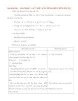Giáo án lớp 4: Địa lý: HOẠT ĐỘNG SẢN XUẤT CỦA NGƯỜI DÂN ĐỒNG BẰNG BẮC BỘ doc