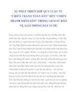 """SỰ PHÁT TRIỂN HỢP QUY LUẬT TỪ """"CHIẾN TRANH TOÀN DÂN"""" ĐẾN """"CHIẾN TRANH NHÂN DÂN"""" TRONG LỊCH SỬ BẢO VỆ, GIẢI PHÓNG ĐẤT NƯỚC_3 ppt"""