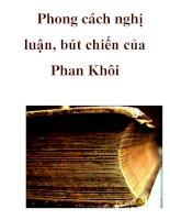 Phong cách nghị luận, bút chiến của Phan Khôi _3 ppt
