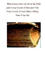 Hiện tượng nhân vật nữ tu tập Phật giáo trong truyện cổ dân gian Việt Nam và một số nước khác ở Đông Nam Á lục địa_3 ppt